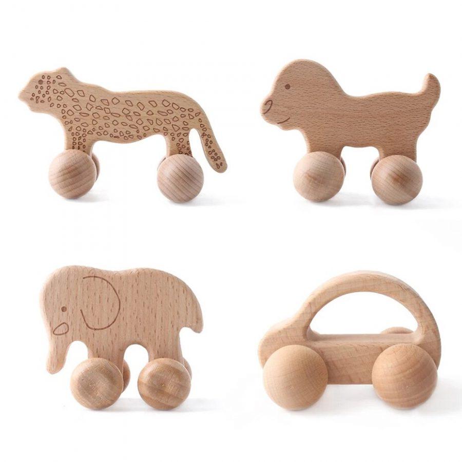 1pc אורגני אשור עץ רכב לתינוקות BPA משלוח מונטסורי צעצועי עץ רעשן משחק מוח צעצועי מלאכת מתנה ילד בלוק 5