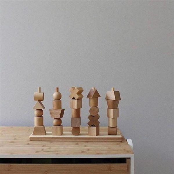 מגדל קוביות עץ 2