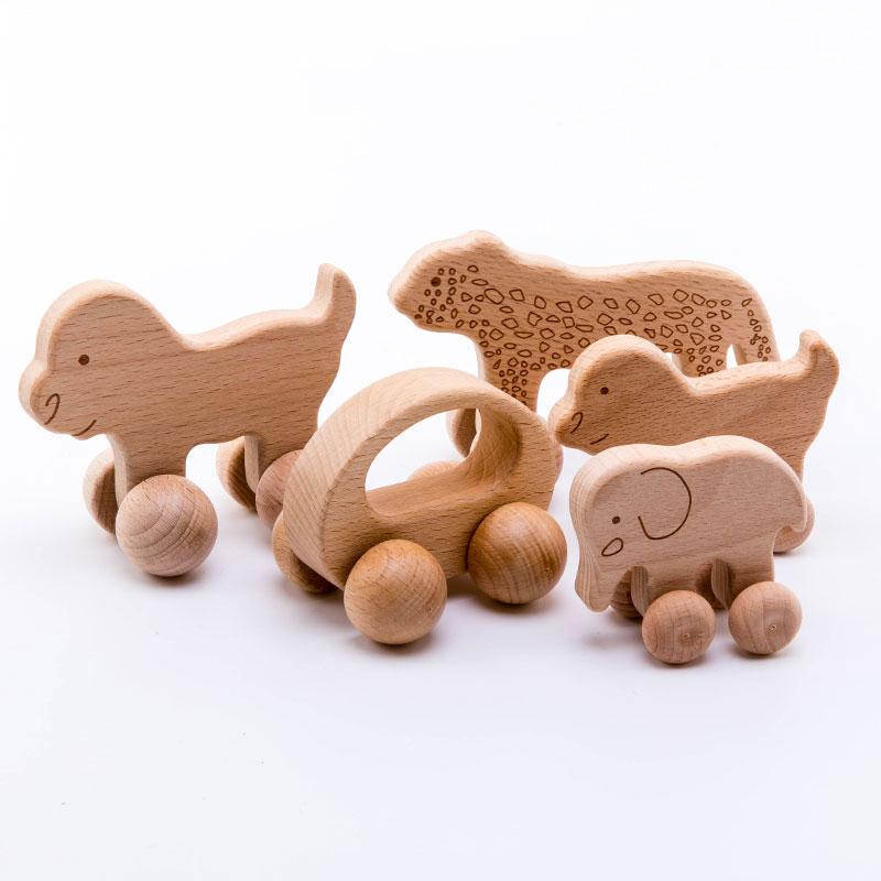1pc אורגני אשור עץ רכב לתינוקות BPA משלוח מונטסורי צעצועי עץ רעשן משחק מוח צעצועי מלאכת מתנה ילד בלוק 1